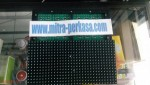 Panel Led Running Text Hijau Outdoor